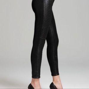 NYDJ Antonia Tuxedo Strips Coated Leggings